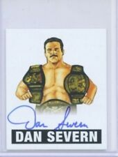 "DAN SEVERN ""AUTOGRAPH CARD #DS1"" LEAF ORIGINALS WRESTLING WWF WWE UFC"