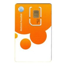 At&T Wireless Newest 3G / 4G / Lte Sim Card - Postpaid /Go Phone Prepaid - Sku