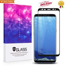 Samsung Galaxy Note 8 Tempered Glass Screen Protector Full Coverage Black Clear