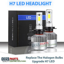 2x H7 Bulbs Upgrade Led Headlight 72W 6500K DIAMOND WHITE 8000LM Low Beam For VW