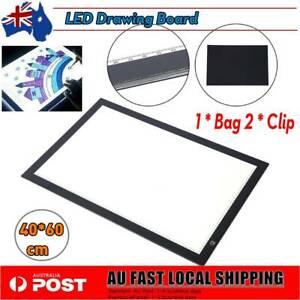 A2 LED Artist Ultra-Thin Art Stencil Board Light Tracing Drawing Pad Table Box #