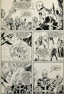 Eternals Original Comic Art; Marvel Issue #6 Pg #17 Sal Buscema Art 1986