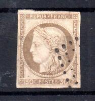 France 1872 Colonies 30c brown imperf fine used (4 margin) WS16092