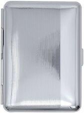 Silver Stripes (14 Kings) Metal-Plated Elastic Bands Cigarette Case & Stash Box
