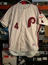 New listing Vintage LENNY DYKSTRA Rawlings Philadelphia Phillies White Pinstripe Jersey 48