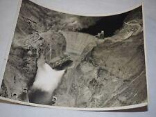 1936 Aerial view of Boulder Dam, Arizona, during valve tests Original Photo 8x10
