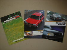 RENAULT  R 18    3 catalogues / dépliantes / brochures / Prospekte  1981-84.