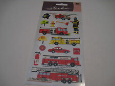 Scrapbooking Stickers Sticko Fire Department Trucks Cars Helmets Fireman Axe