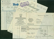 Alte Rechnungen Heidelberg Handschuhsheim Bollmann Jantz  Goos Kirche 1917-1937
