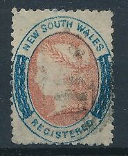 [37663] New South Wales 1863 Registred Good stamp Very Fine used