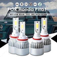 For Honda Pilot 2015-2006 LED Headlight Kit H11 9005 HB3 Bulbs Hi/Lo Beam 6000k
