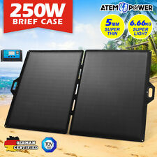 12V 250W Folding Solar Panel Blanket Kit 12V Battery Charging Regulator