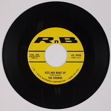 THE CROWNS: Kiss and Make Up / I'll Forget About You '58 R&B Doo Wop 45