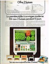 Publicité Advertising 1974 La Table à ouvrage moderne 3 Suisses