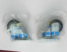 Set of 2 Swivel Casters - 1 Locking - Free Shipping