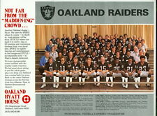1977 Oakland Raiders 8.5 x 11 Team Photo From Hyatt House
