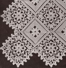 Vintage Crochet PATTERN to make Block Lace Flower Bedspread Motif Pillow BlockLa
