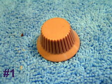 Radio Knobs  Several Models  Colors  Plastic  Tan