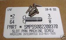 #2-64x3/8 Pan Head Slotted Machine Screws Stainless Steel (100)