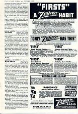 1943 Zenith Radio WWII Radionics Military Secret Print Ad