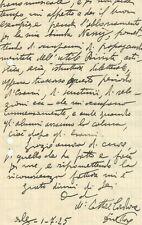 Alessandria d'Egitto Lettera Autografo Ettore Cardone Compositore Organista 1925