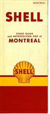 1953 Shell Road Map: Montreal NOS