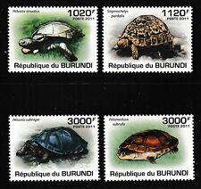 Turtle Terrapin Tortoise mnh set of 4 stamps 2011 Burundi #897-900