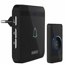 AVANTEK D-3G Sonnette Sans Fil avec Récepteur Enfichable - Noire (LD-D-3G-U)