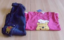 WINNIE Pooh manica lunga top e pantaloni jeans TG 122