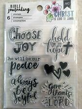American Crafts BIBLE JOURNALING CLEAR STAMPS CHOOSE JOY NEW