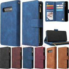 For Samsung S10 S9 S8 Note10 Magnetic Flip Leather Card Holder Wallet Case Cover