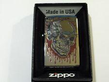 Zippo Fuzion Skull High Polish Chrome Lighter