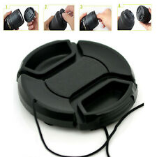 49mm Lens Cap Center Pinch Snap On Front Cover String for Canon Nikon Sony e159