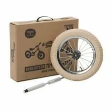 TRYBIKE Kit de Transformation Draisienne en Tricycle Vintage Roue Blanc Beige