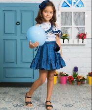 PDF DIGITAL PATTERN Sewing GIRL'S OFF SHOULDER TOP+CIRCULAR SKIRT *DOWNLOAD*