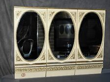 ANCIENNE ARMOIRE A PHARMACIE A 3 MIROIRS OVALES DECORS DORES BREVETE SGDG