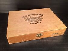 Vintage Joya De Nicaragua Petits Wood Cigar Box - Nicaragua - Great Patina!
