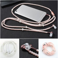 Pearl In-Ear Earphone With Microphone For iPhone6 7 Samsung Universal 3.5mm Jack
