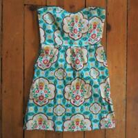 Judith March Floral Print Rockabilly Dress Size S Small