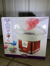 NEW Nostalgia Electrics Cotton Candy Maker Machine Hard Sugar Red 450w
