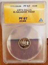 PR 67 - 1977 El Salvador .999 Silver 1 Colon CoinSalvador Dali La Fecundidad