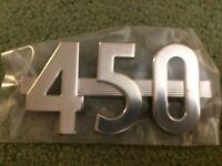 SIDE HOOD EMBLEM IH FARMALL 450 TRACTORS   REPLACES 366680R1