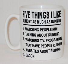 5 Things I COMME AS MUCH COURANT Tasse peut personnalisé cinq Tapis Bacon cadeau