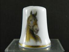 Dé à coudre collection en porcelaine sujet cheval