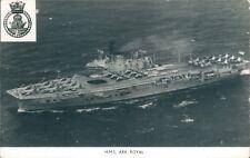 Postcard Sized Photo Royal Navy Aircraft Carrier HMS Ark Royal p2
