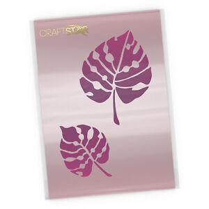 Monstera Leaf Stencil Set - Tropical Foliage A5 Craft Template