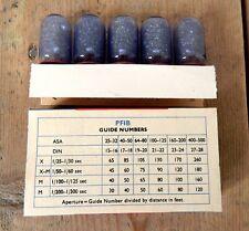 Vintage Unused Philips PF1B Photoflux Photoflashes 5 x Flash Bulbs Camera #A
