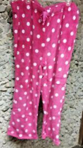 Faded Glory woman's hot pink w/white dots sleepwear pants size 3X