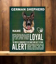 PERSONALISED ALSATION GERMAN SHEPHERD BREED VINTAGE METAL SIGN RS63