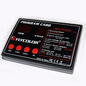Speed Controller ESC Program Card Boat ESC Programming Card for Flymonster ESC